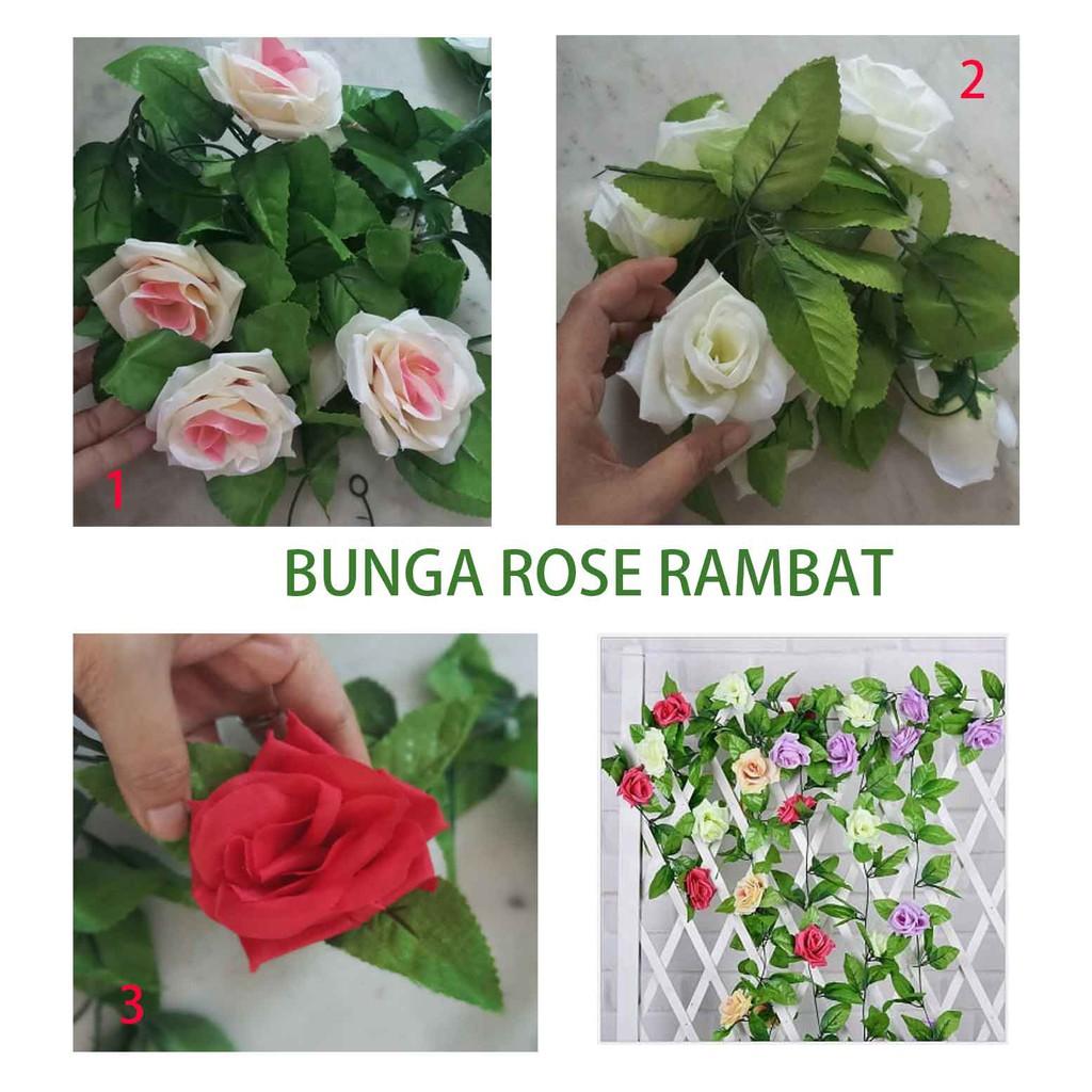 BUNGA MAWAR RAMBAT / Bunga Artificial / tanaman artificial / tanaman rambat / shabby chic | Shopee Indonesia