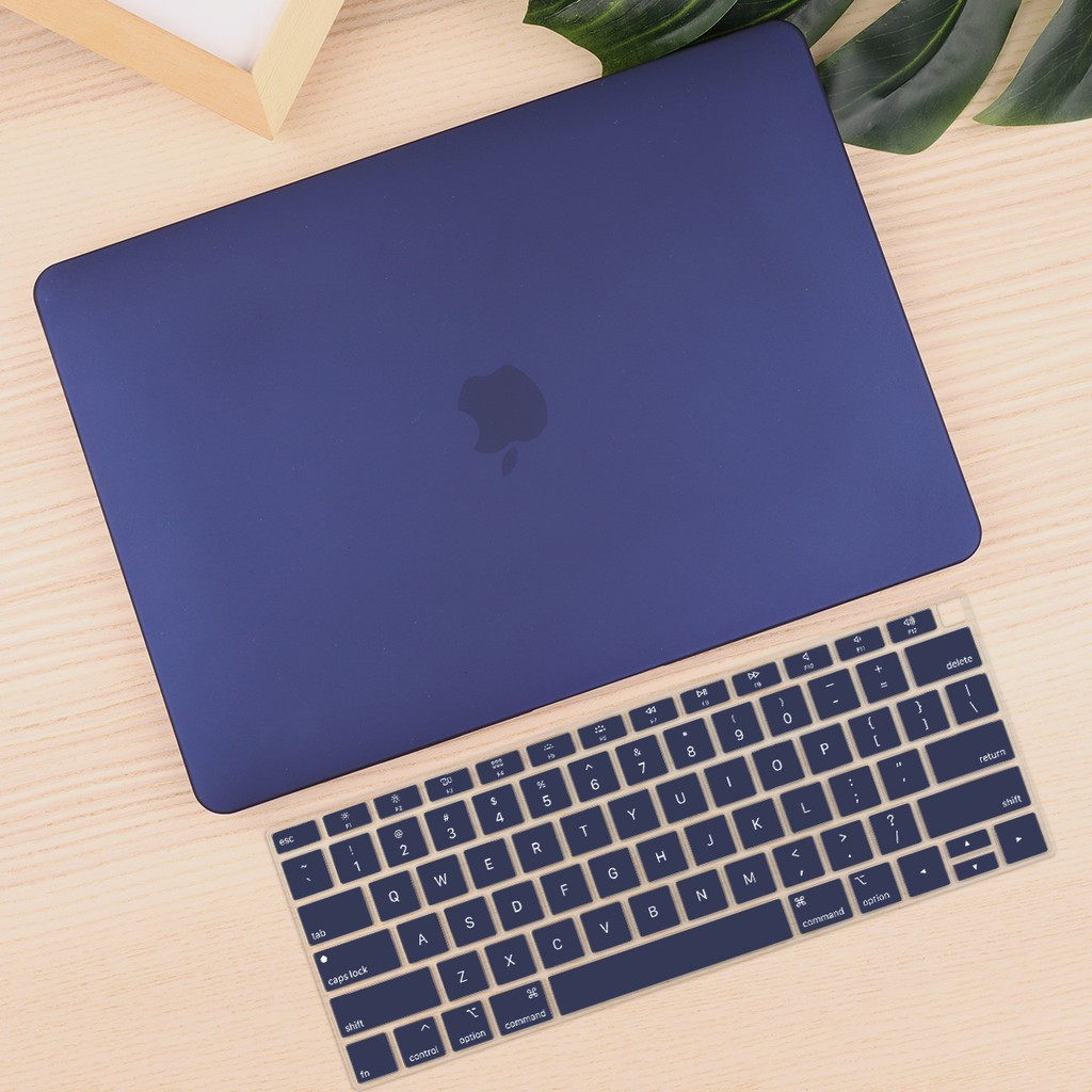 Navy Blue Hard Case for Apple MacBook Air 1 1 Pro 1 1 inch Retina 1  Cover