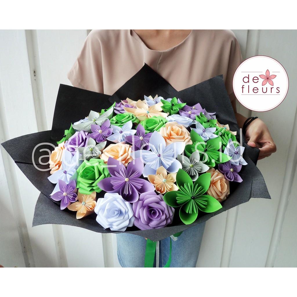 Deluxe Bouquet Buket Bunga Kertas Murah Paper Flower Murah Hadiah Wisuda Bunga Wisuda Shopee Indonesia