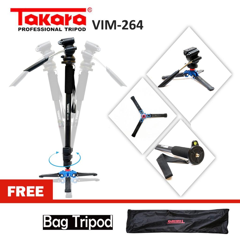 Takara Vit 234 Fluid Head Video Tripod Camera Propesional Shopee Light Stand Spirit 3 Studio Tipe Air Cushion Pegas Angin Indonesia