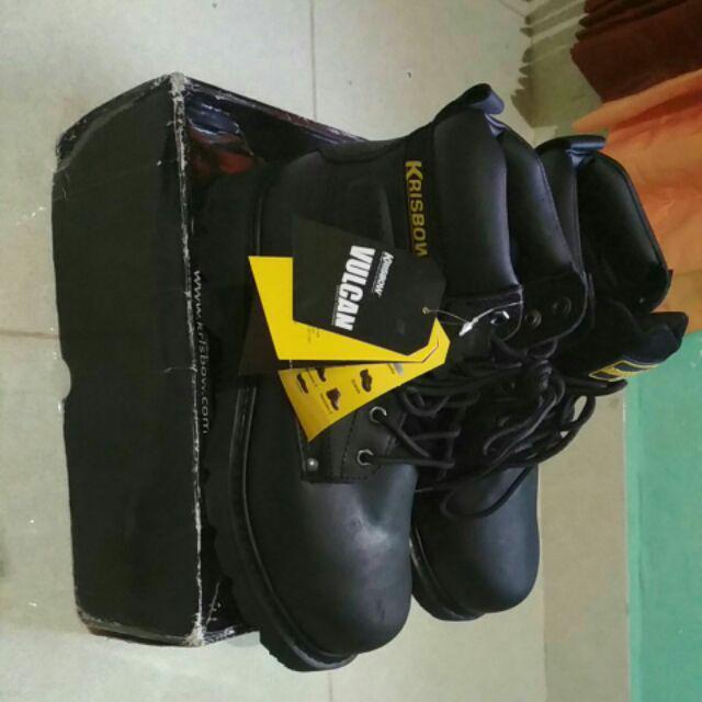 7ede9278238 SAFETY SHOES ORIGINAL KRISBOW Vulcan full kulit | Shopee Indonesia