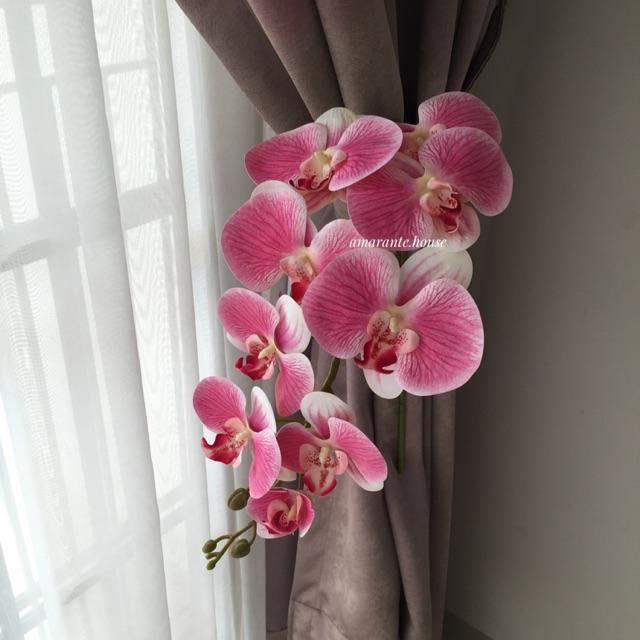 Bunga Anggrek Pink Artificial Shopee Indonesia