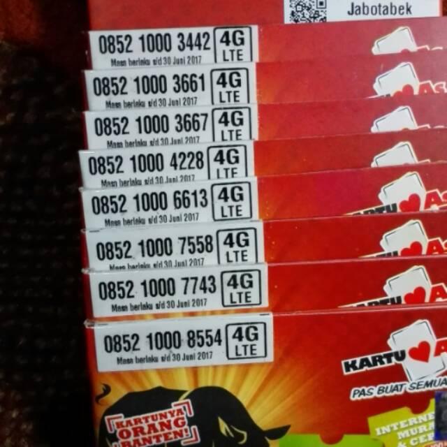 Kartu Perdana AS Telkomsel Nomer Nomor Cantik Nocan 0852 1000 7558 Triple Murah Rapih 4G LTE Promo | Shopee Indonesia