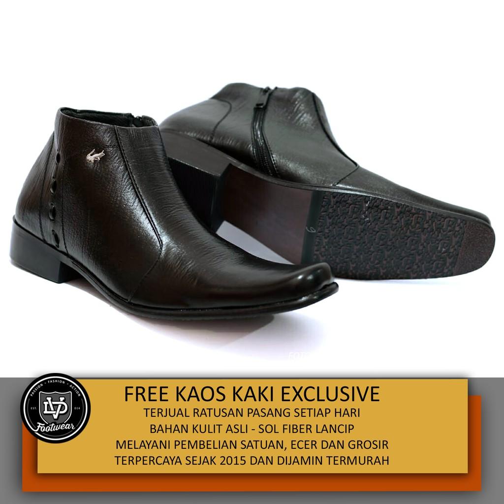 Sauqi Chukka Brown Sepatu Pria Kulit Asli Casual Formal Boots ... fb90ca2757