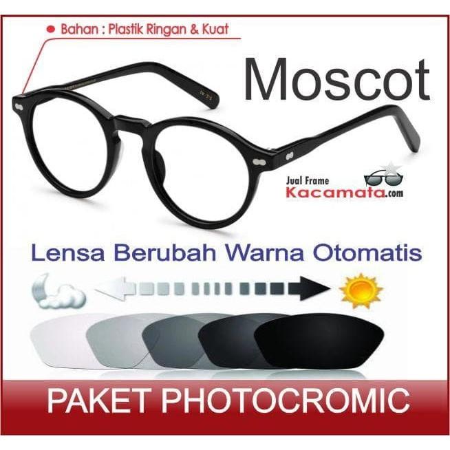 Kacamata Moscot + Lensa Photocromic Minus Baca Frame Pria Cewek Bulat  09bf9e0d00