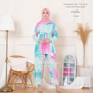 vSamantha - Pajamas Set / Piyama Set Tie Dye Muslim Busui Friendly  - Tangan Panjang