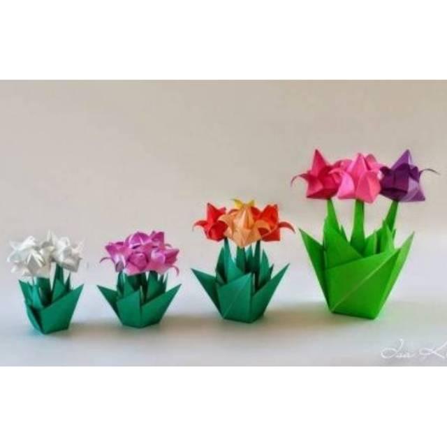 Cara Membuat Origami Bunga Tulip - YouTube | 640x640