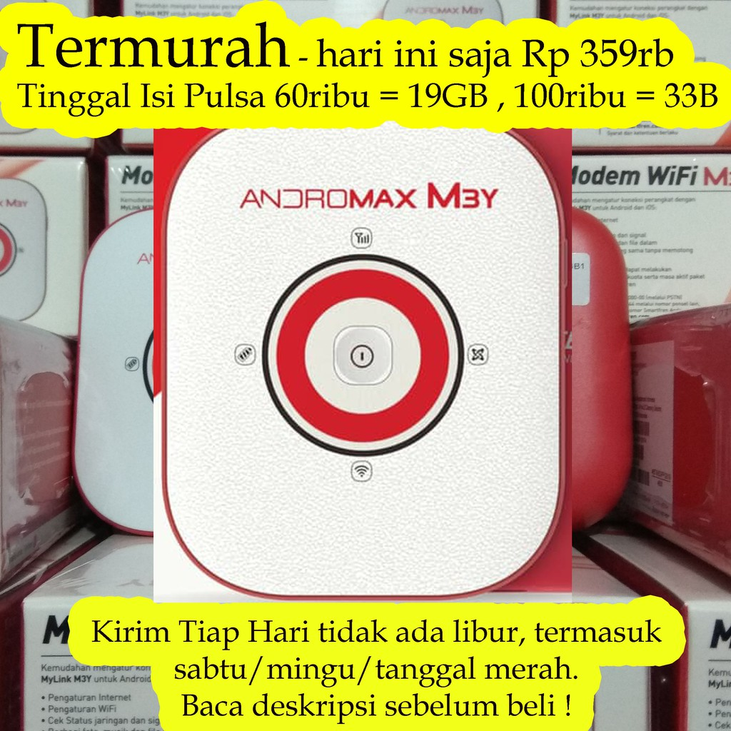 Termurah Smartfren Mifi Wifi Andromax M3z Free Quota 2gb M3y Networking Shopee Indonesia