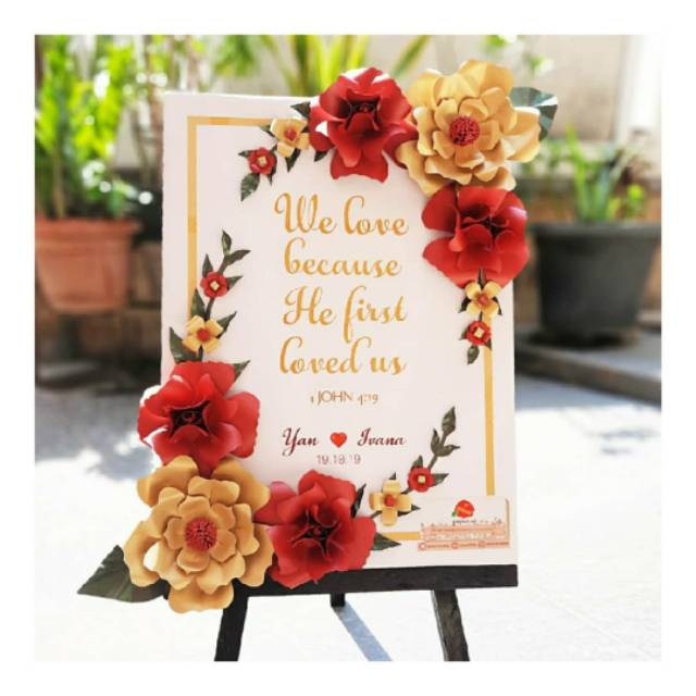 papan bunga kertas murah paper flower board mini uk x cm