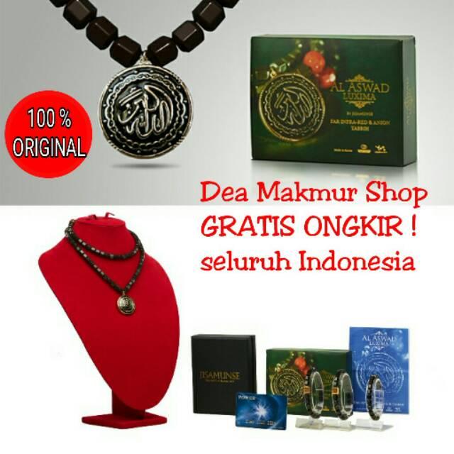 Kalung Gelang Tasbih Kesehatan Al aswad Luxima Jisamunse Black Jade Original Aslo   Shopee Indonesia