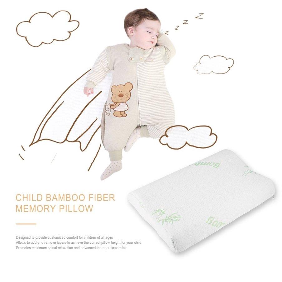 Adjustable bamboo Fiber Children Contour Memory Foam For Neck Shoulder Support K