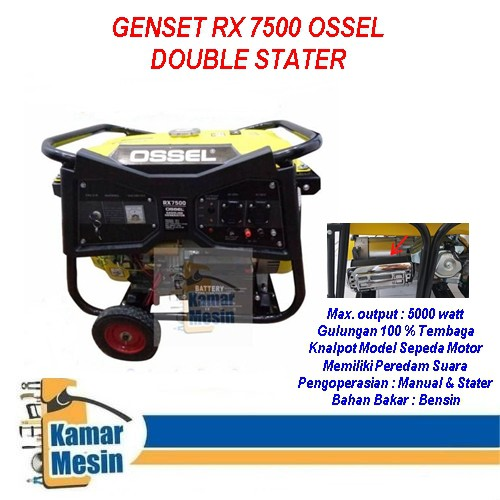 Generator 5000 Watt Ossel Genset 5000 watt Ossel Genset Ossel 5000 Watt Generator 5000 watt Ossel