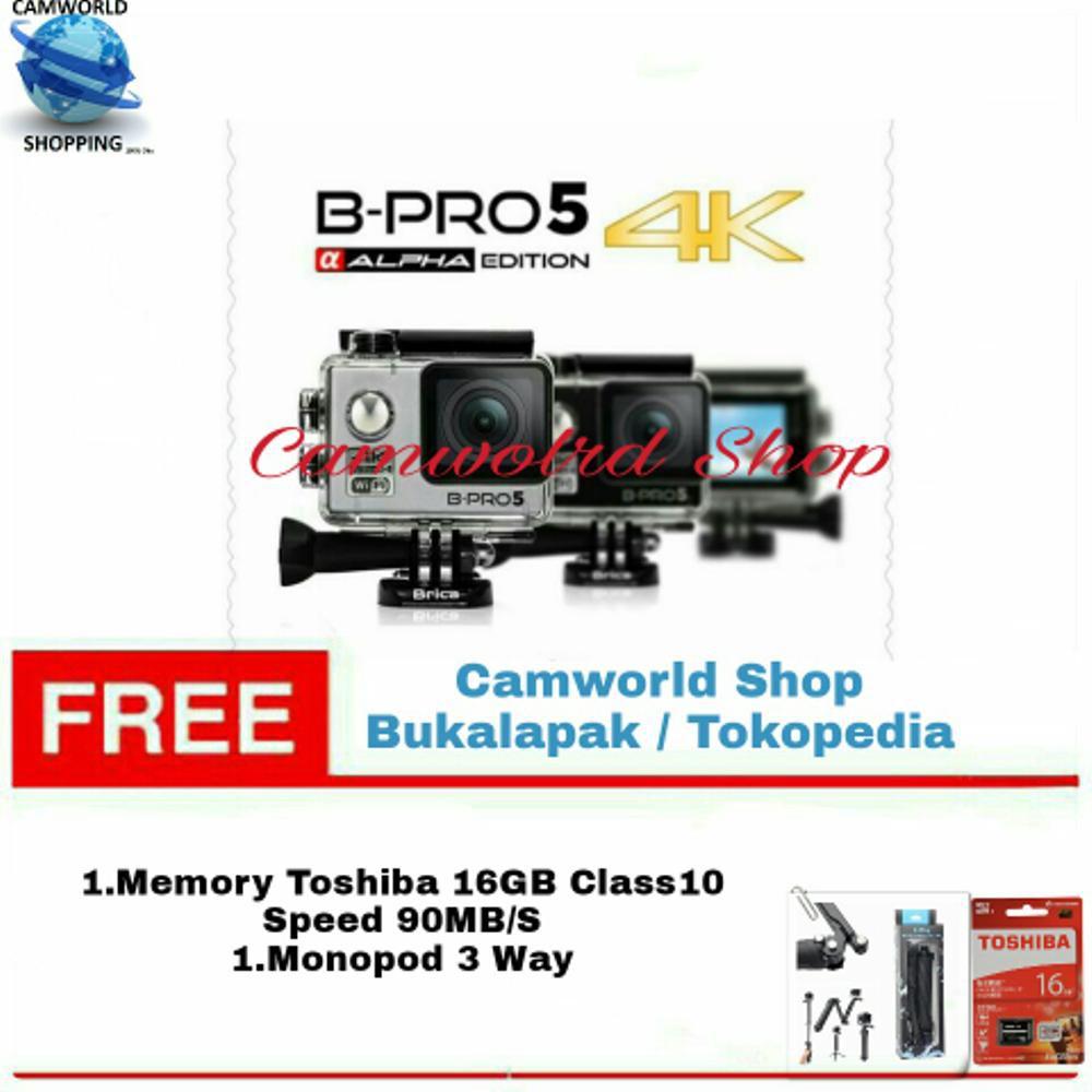 Brica B Pro 5 Alpha Edition Mark Iis Ae2s 4k Wifi Action Monopod Pro5 Komplit 2s Ae 2 Shopee Indonesia