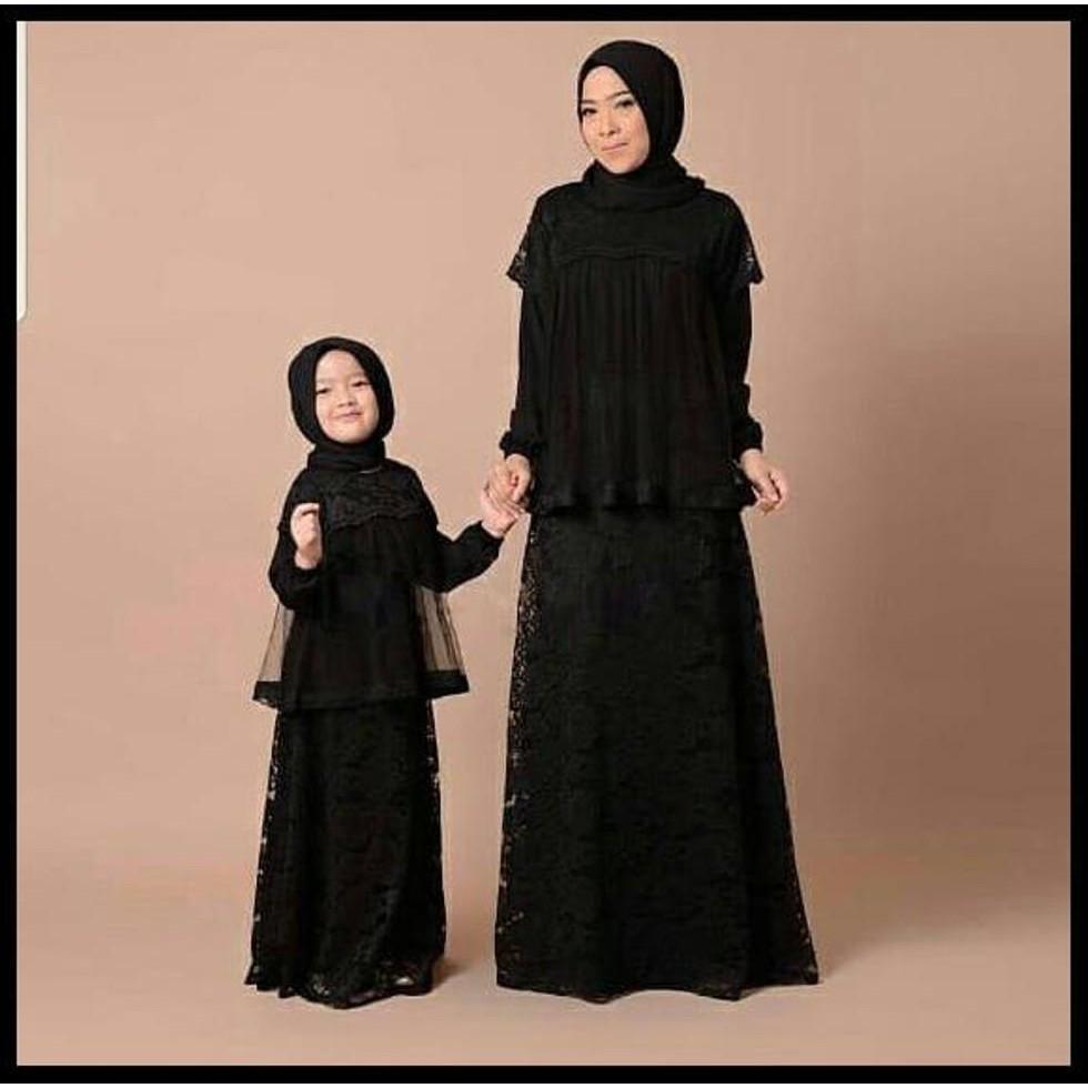 NEW Jual Couple DressCouple Gamis Brokat Baju Muslim Ibu Dan Anak No  Pashmina