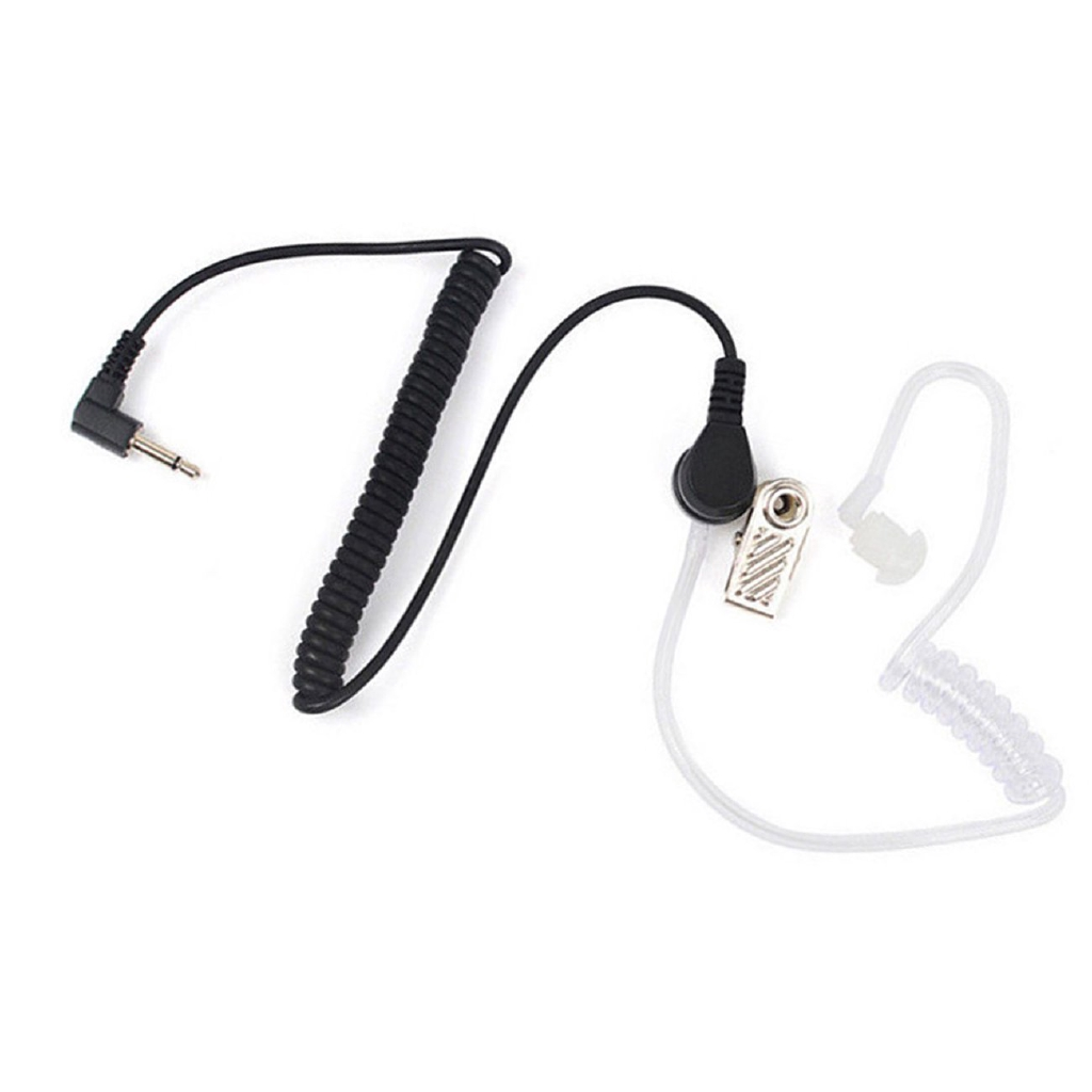 3.5mm Listen Only Earpiece with Coiled Acoustic Tube for Radio Speaker Mic