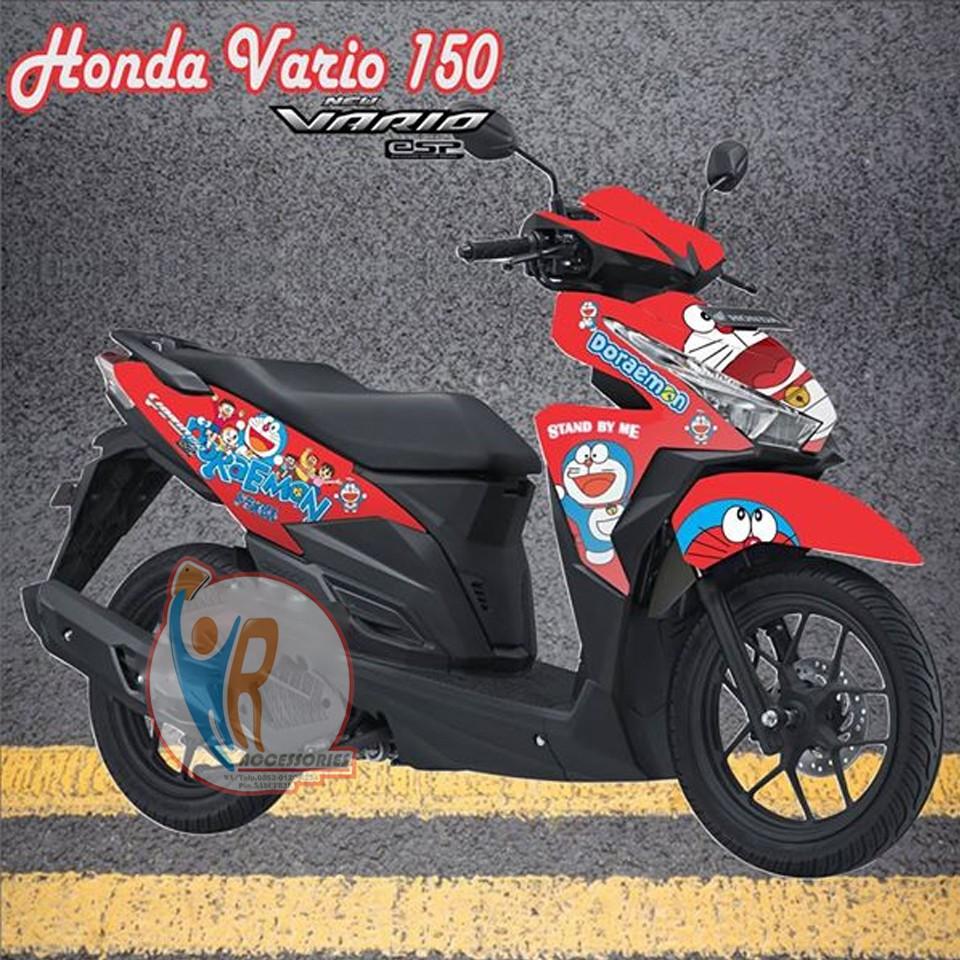 Original decal striping motor honda vario esp150 motif doraemon 4 shopee indonesia