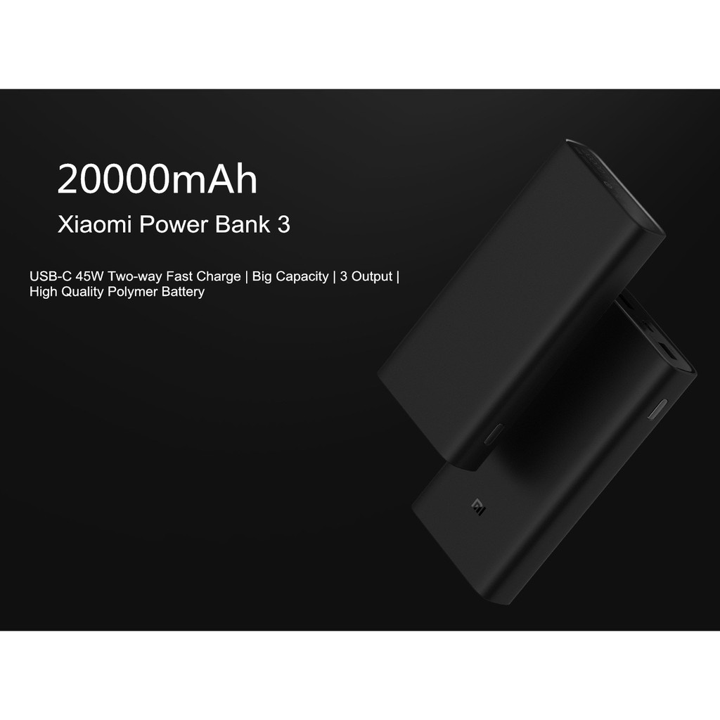 Xiaomi Power Bank 3 Pro 20000mAh USB-C Two-way 45W QC 3.0