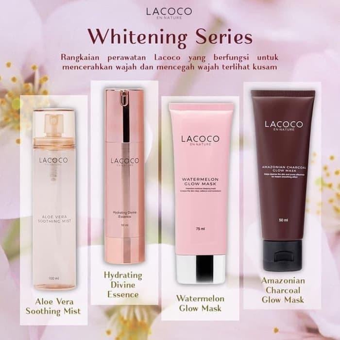 Lacoco Whitening Series Skincare Routine Simple Mencerahkan Aman Untuk Jenis Kulit Wajah Sensitive Shopee Indonesia