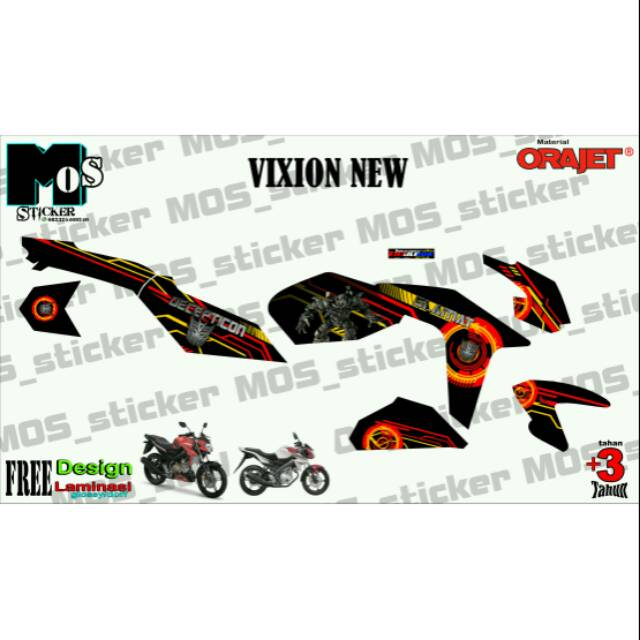 Decal Motor Vixion Old Atau New Shopee Indonesia