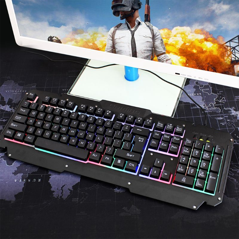 Mouse Set Backlit Mechanical Keyboard Wired USB Illuminated Ergonomic PC Gaming