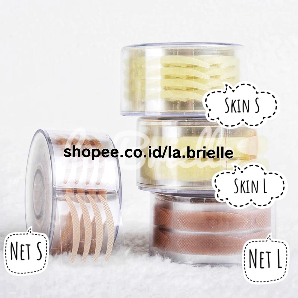 300 Pairs Fashion Lace Eye Strips Double Invisible Eyelid Tape | Shopee Indonesia