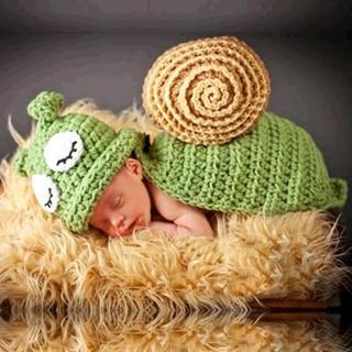 TAYLOR Set Kostum Siput Rajut+Topi Beanie untuk Properti Foto Bayi | Shopee Indonesia