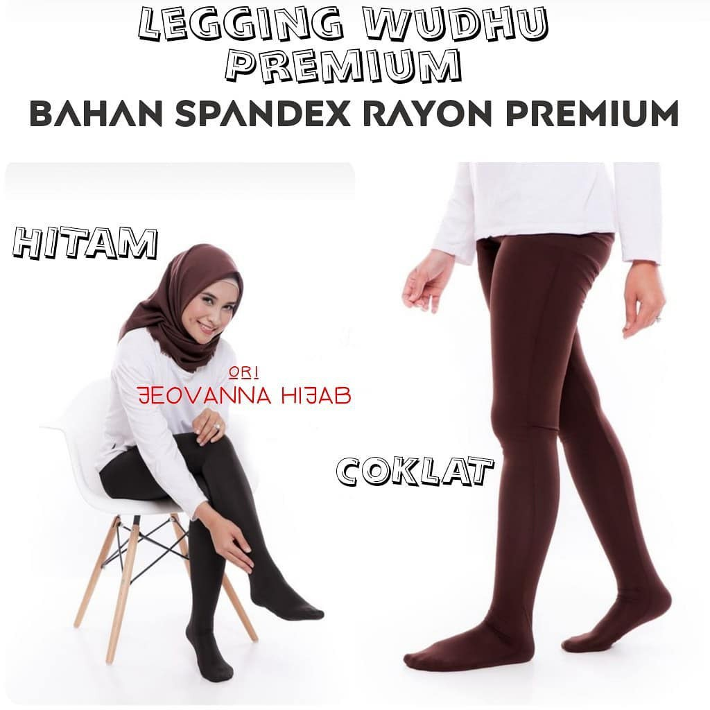 Jeovanna Hijab Legging Wudhu Alica Dark Gray M11720 R14s6 R35s7 Shopee Indonesia