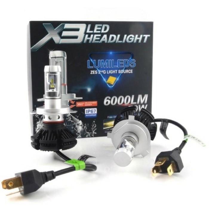 Lampu Led Mobil H1 H11 Hb3 H7 Philips Lumileds Error Free Headlight Shopee Indonesia
