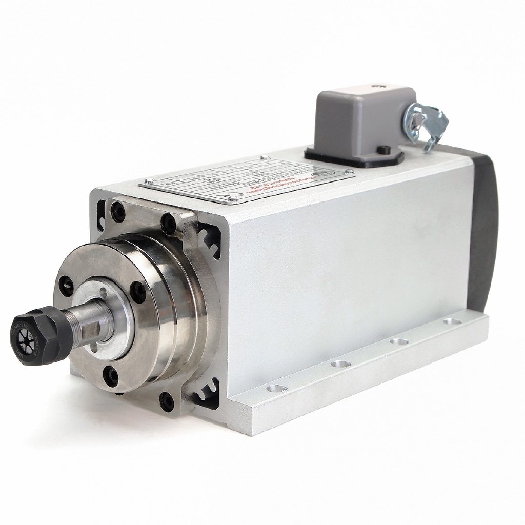 1.5KW Air Cooled CNC Spindle Motor for CNC Router 110//220V,0-400Hz,0-24000rpm