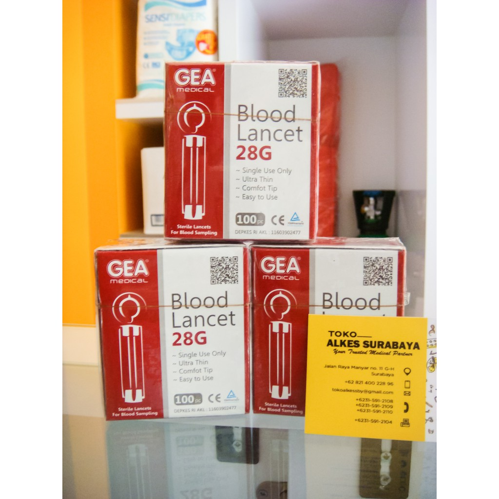 Blood Lancet Sterile Jarum Isi 100pcs Shopee Indonesia Atau Renoma