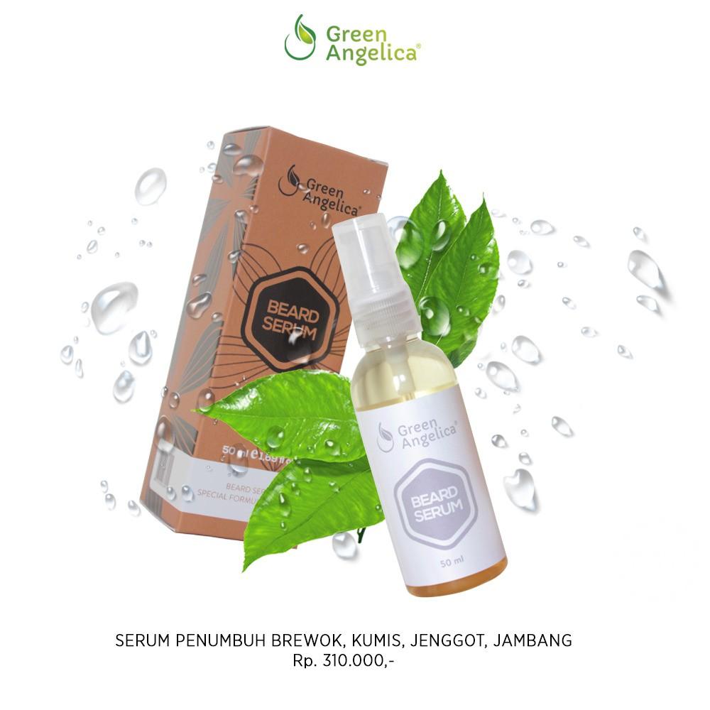 Minyak Penumbuh Rambut Alis Green Angelica Beard Serum Penumbuh Jambang Resmi Bpom Ampuh dan Cepat | Shopee Indonesia