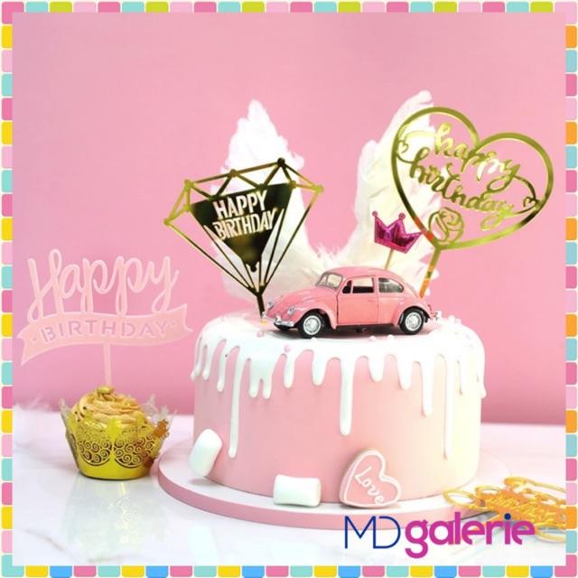 𝙈𝘿 Tusukan Kue Ulang Tahun Topper Ucapan Birthday Acara Pesta Cake Toper Dekorasi Ultah V02 10532 Shopee Indonesia