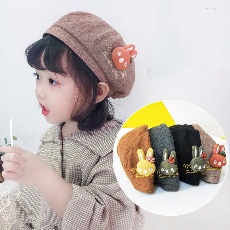 Baby Kids Girl Boy Beret Hat Toddler Child Woolen Winter French Artist Cap Hat