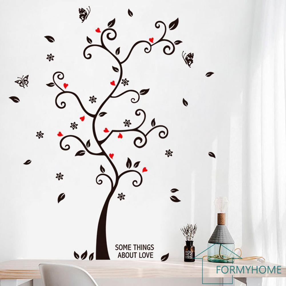 Stiker Dinding Dengan Bahan Mudah Dilepas Dan Gambar Pohon Bingkai Foto Untuk Dekorasi Rumah