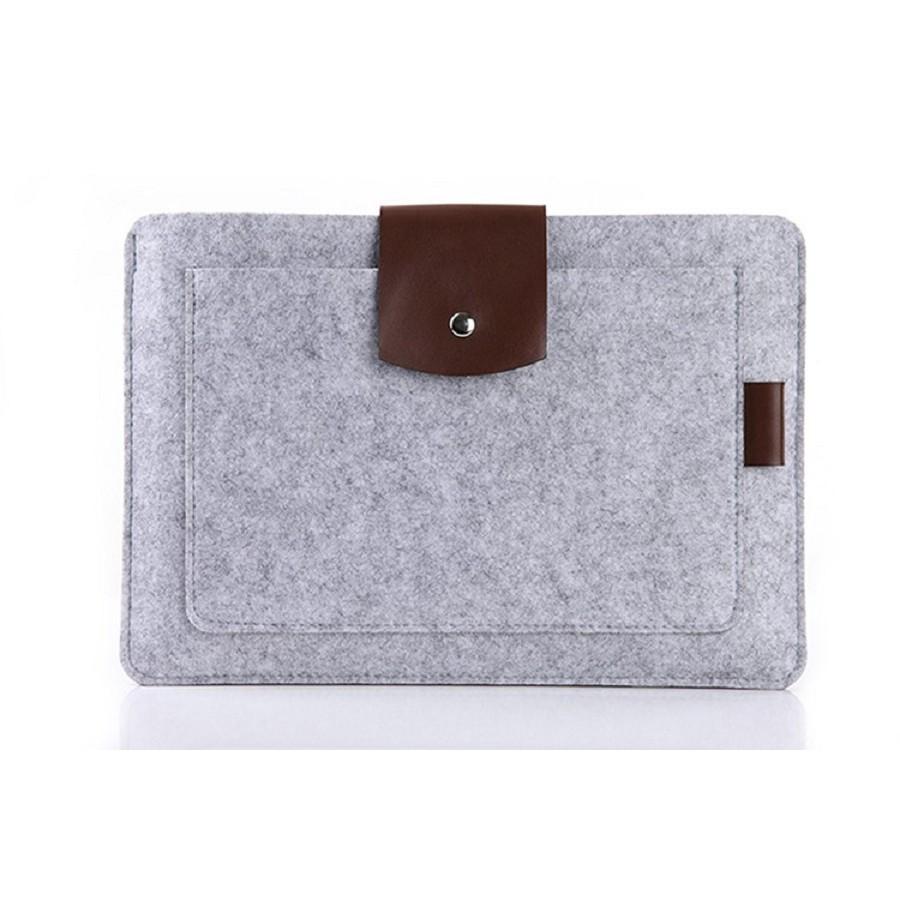 """Tas Laptop Tweed Flanel Sleeve Case for Macbook 11.6""""/12.1"""" Softcase - Hijau"""