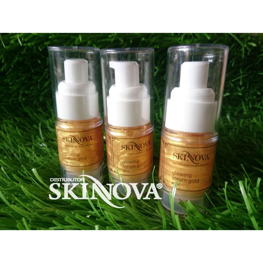 Skinnova Glowing Serum Gold 20 Ml Shopee Indonesia