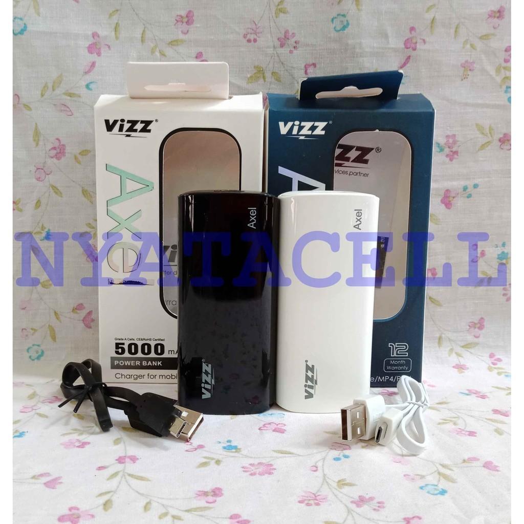 Vizz Power Bank 5 000 Mah Type Vz5000 Axel Single Port Putih Spec 6000 Vz6000 Navi Rose Gold 5000