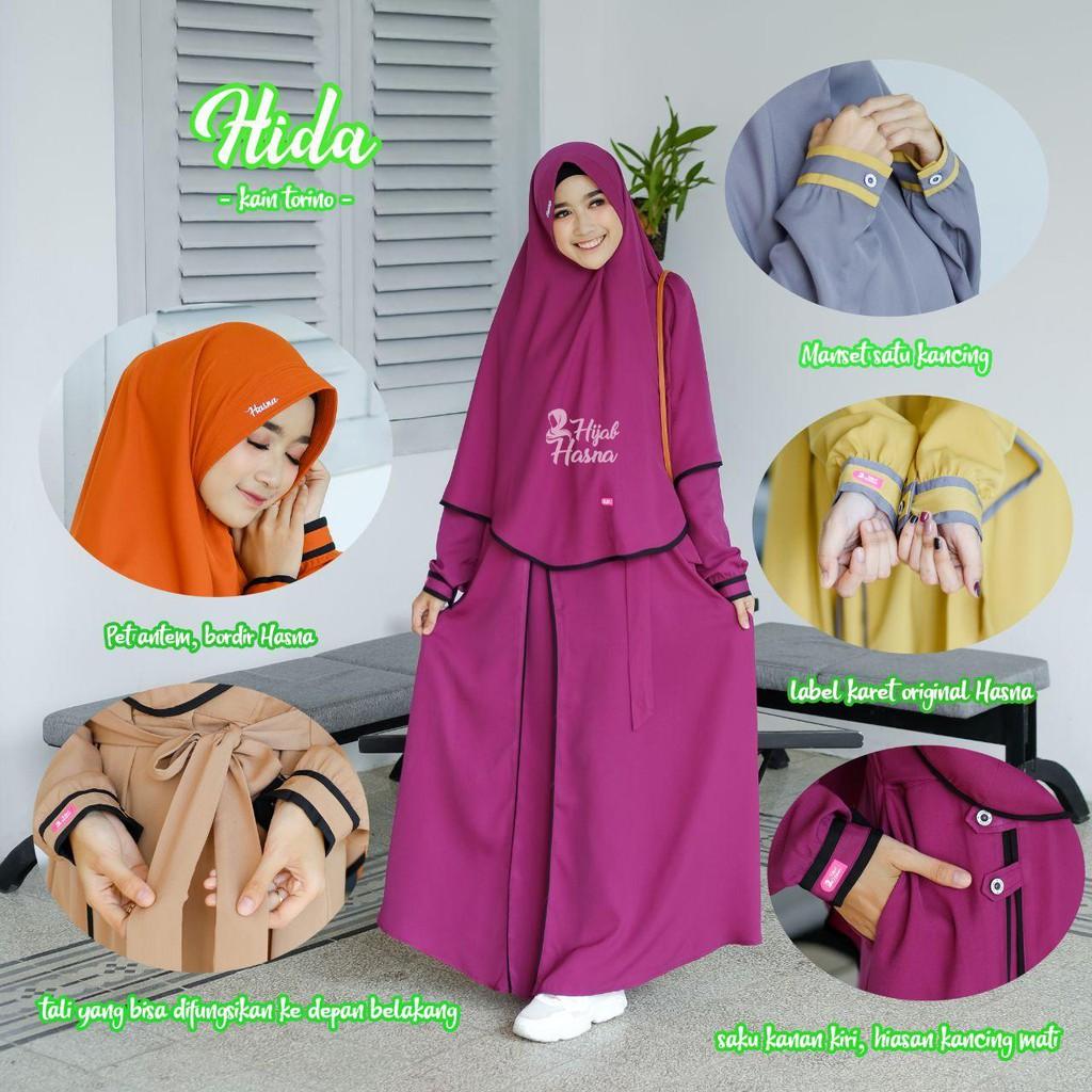 Dress Set Gamis Modis Muslimah Gamis Syar I Gamis Set Hijab Original Busui Hasna Hijab Hijab Instan Shopee Indonesia