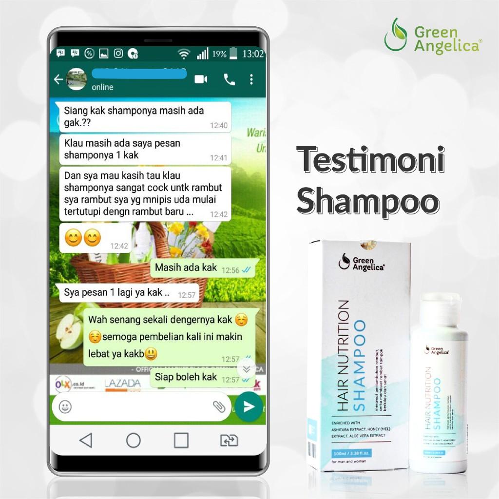 Shampoo Green Angelica Perawatan Rambut Rontok Mengatasi Ketombe-4