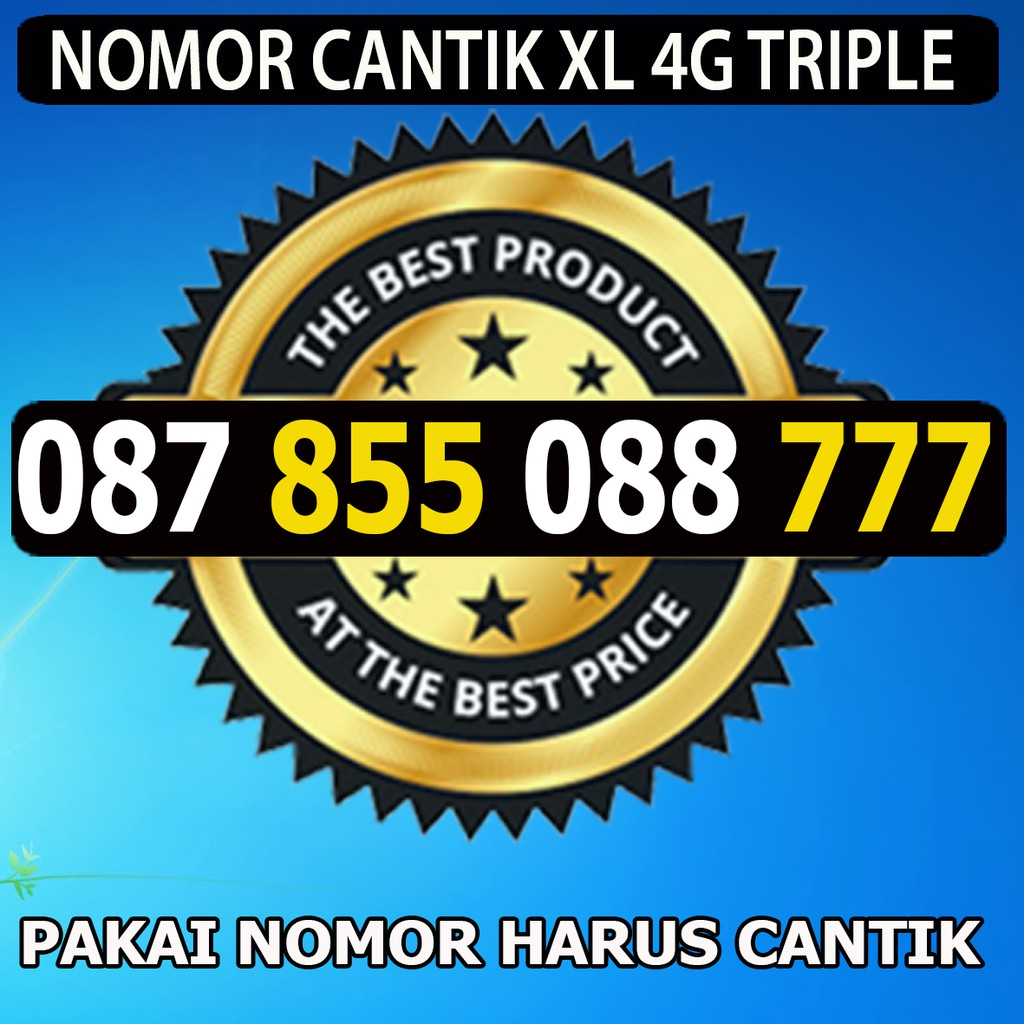 Nomor Cantik XL ABCD 0817 7081 7018 Kartu Perdana Xl