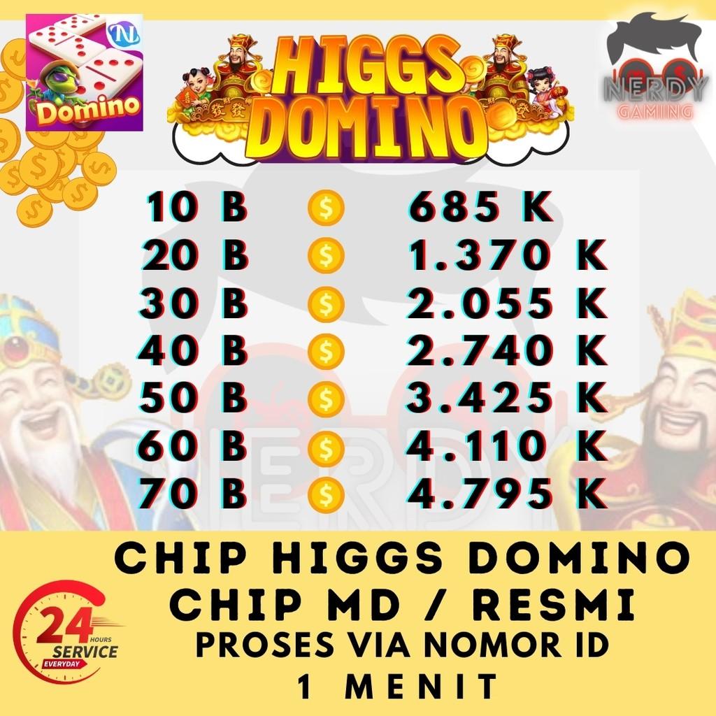 Chip Higgs Domino MD Ungu Hoki Jakpot 50 B - Koin Coin Higgs Domino Murah Cepat - Top Up Chip