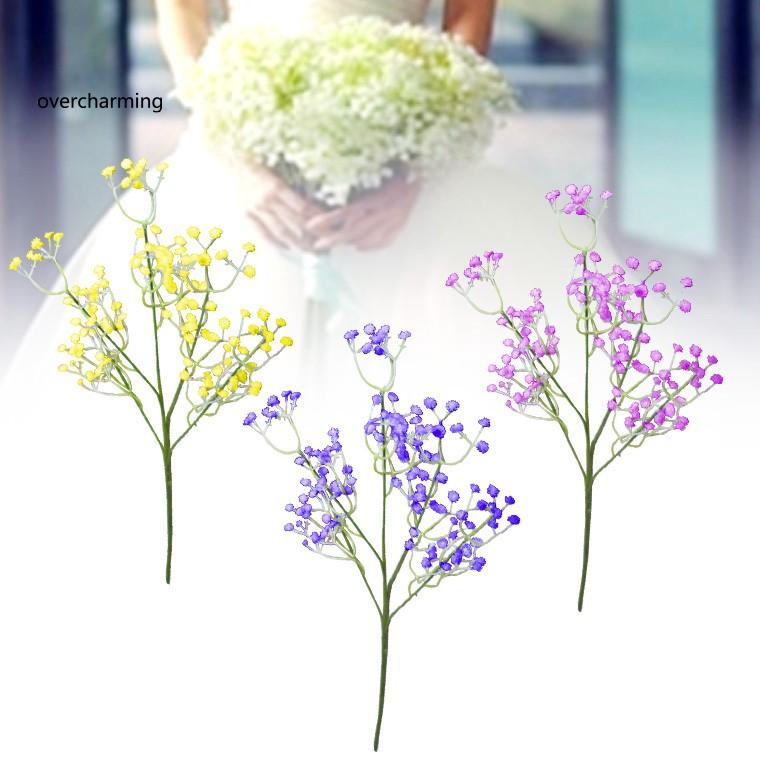 Ov 10pcs Set Buket Bunga Babysbreath Imitasi Untuk Dekorasi Rumah Pernikahan Background Tv