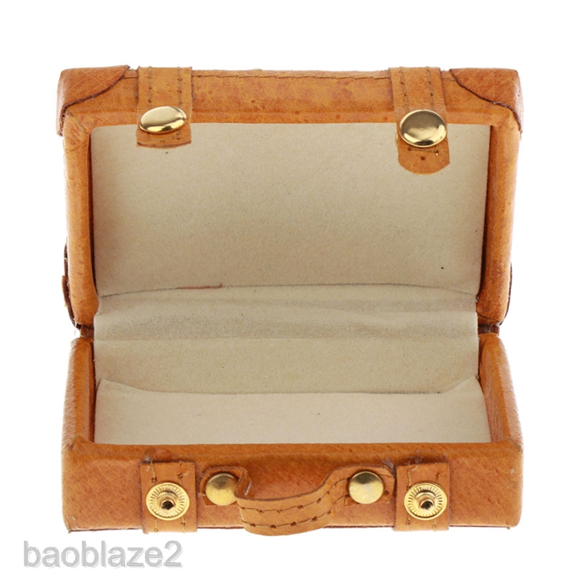 1//6 Scale Dollhouse Miniature Vintage Suitcase Luggage Can Open for BJD Doll