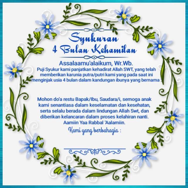 Stiker Label Syukuran 4 Bulanan Usia Kehamilan Free Request Nama Bumil Shopee Indonesia
