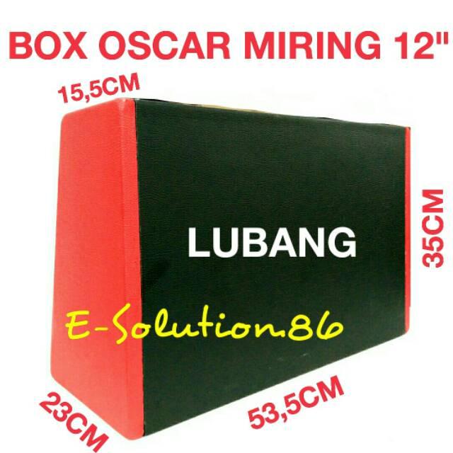 "Box OSCAR Miring LL 12"" Box Subwoofer 12 inch Box Kulit Jeruk Box Audio Mobil Box Speaker 12inch"