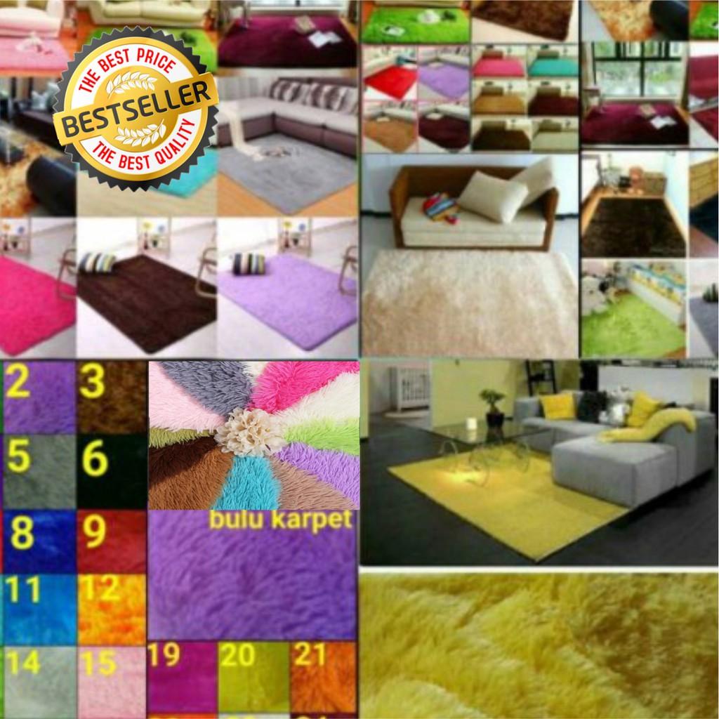 Busa Kuning Karpet Bulu Rasfur 150x100x2cm Empuk Shopee Indonesia Matras Uk 200x150x3cm