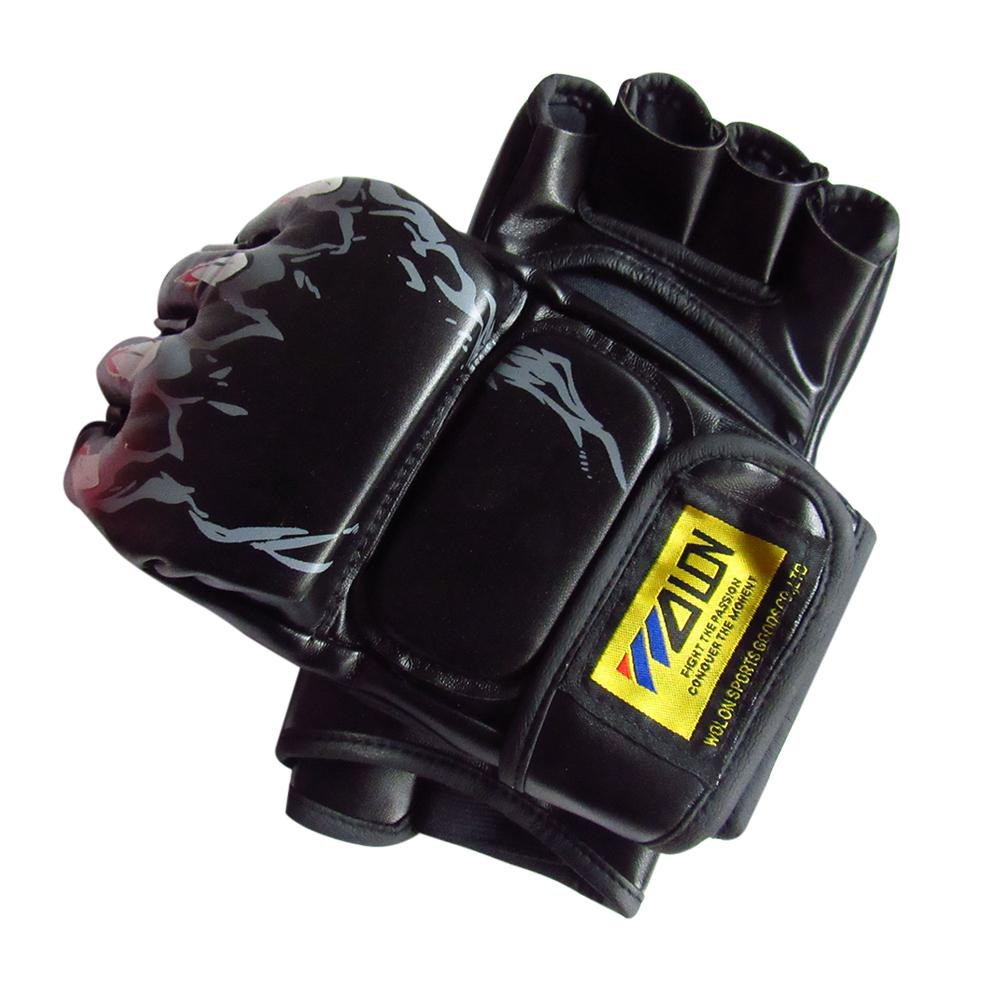 Half Figer Boxing Glove Training Sparring Kick MMA Muay Thai Gym Punching Gloves