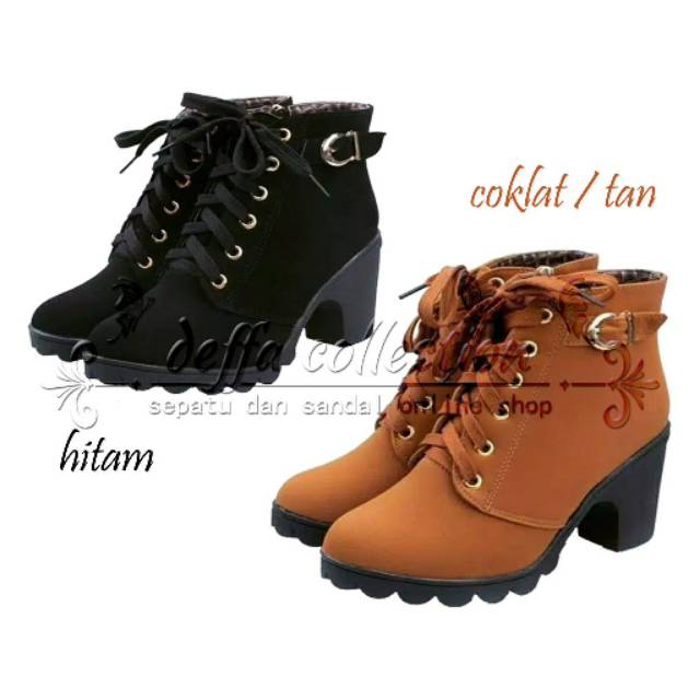 Belanja Online Boots   Ankle Boots - Sepatu Wanita  6d9b9ee251