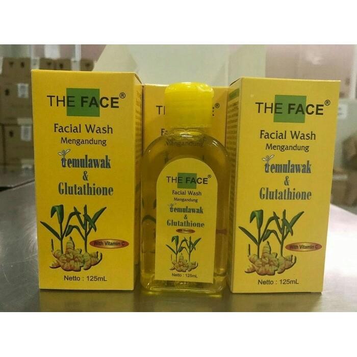 [THE FACE] FACIAL WASH TEMULAWAK / THE FACE SABUN CAIR BPOM ORIGINAL   Shopee Indonesia