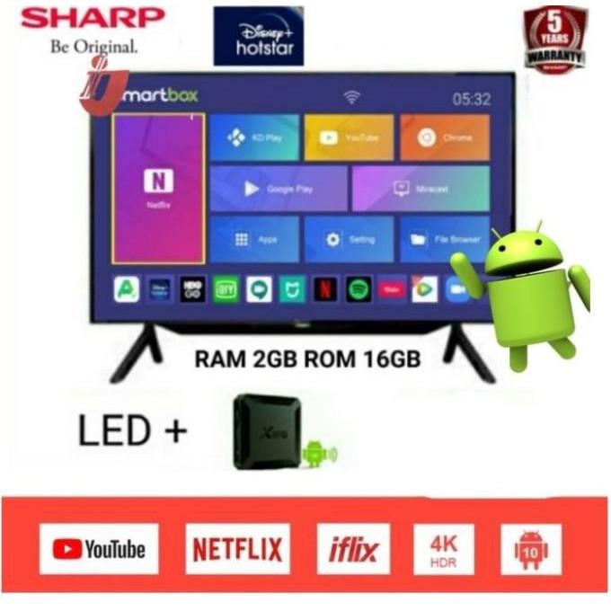 SHARP Aquos LED TV 42inch Smart Android Box Ram 2GB 2T-C42BB1i - TVBOX - tv&box android